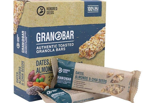 GRANOBAR Dates, Almonds & Chia Seed -Box/5pcs