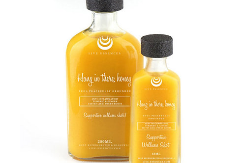 """""""Hang in there, Honey"""" Wellness Shot by Live Essences"""