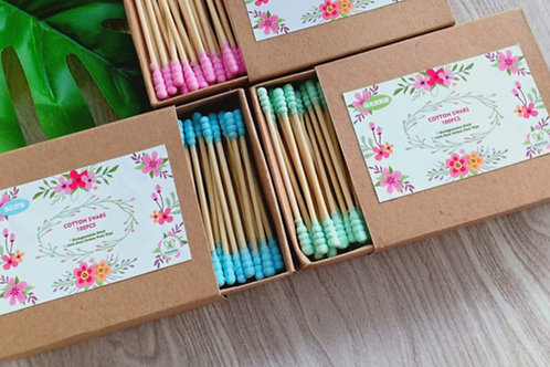 Wooden Cotton Qtips Swabs 100pcs