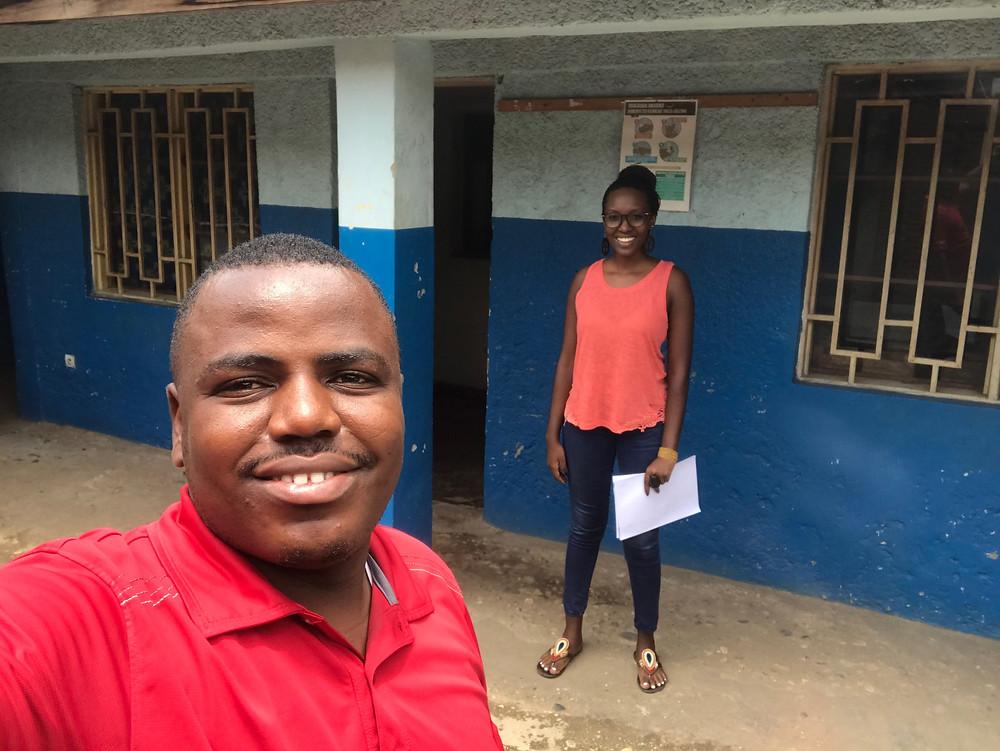 ISSA Ibrahim (Chef de Mission APM) et Linka MUCO (Chargée de Projet VAB)