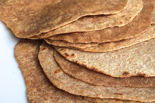 "Organic Wholewheat Brown Tortilla 8"" 500g"