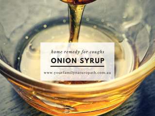 Onion Syrup ~ home remedy for coughs