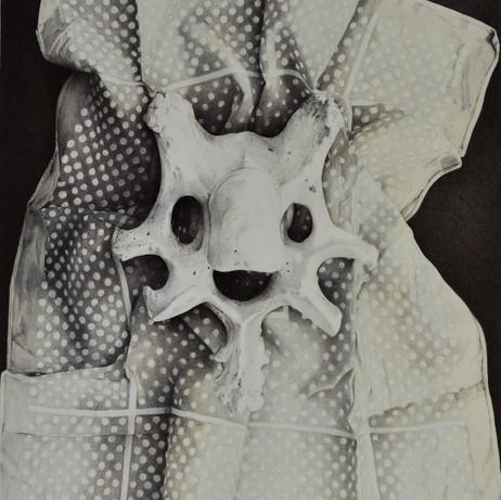 Happy Bone on a Red Handkerchief No.1