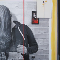 """Fragment of a painting """"Sculptor modelling a portrait of me"""""""