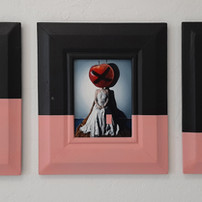"""Triptych """"Dipped in Pink"""""""