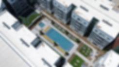 Apartment Complex Aerial Photo