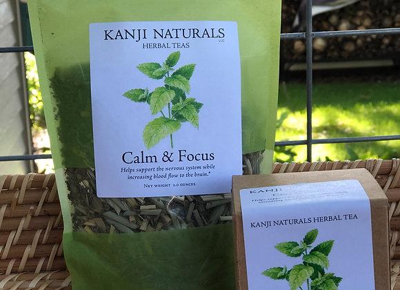 Calm and Focus, 2 ounce tea blend