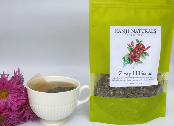 Zesty Hibiscus Herbal Tea, 2 ounce tea
