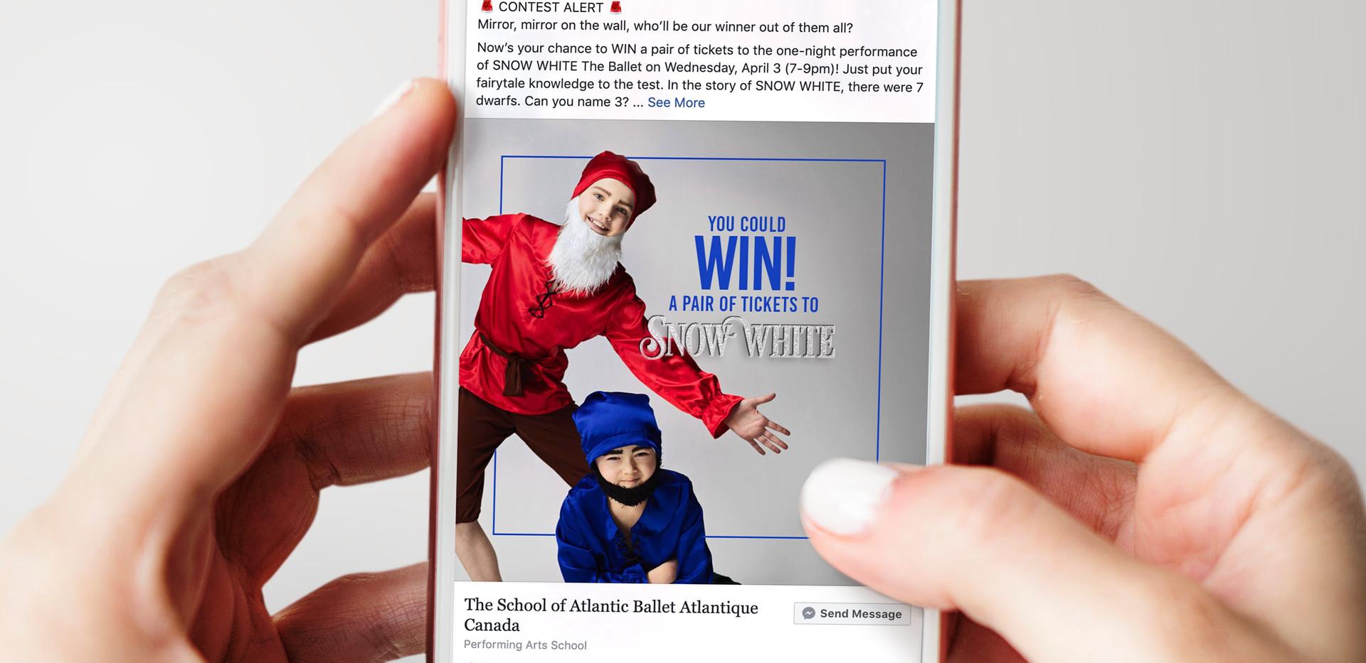 Snow White Ballet | Contest Promotion Post
