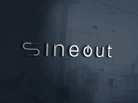 SineOut   Logo Design