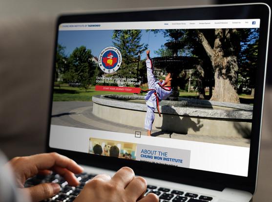 Chung Won Institute of Taekwondo   Website Design + Social Media