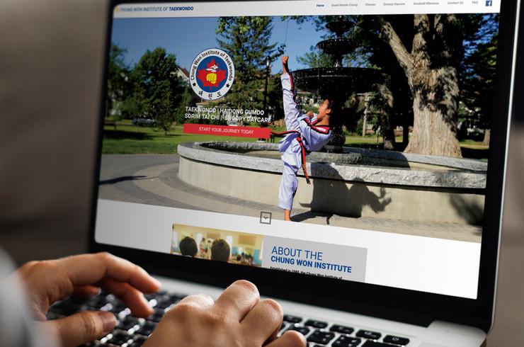 Chung Won Institute of Taekwondo | Website Design
