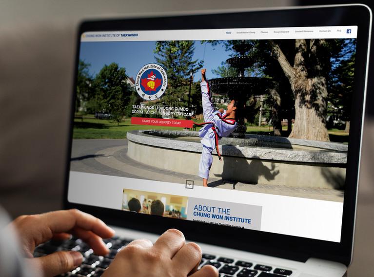 Chung Won Institute of Taekwondo | Website Design + Social Media