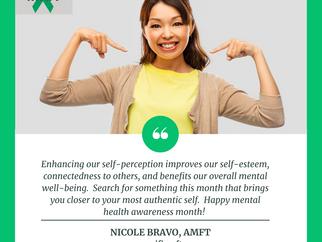 Mental Health Awareness:  Nicole Bravo, AMFT