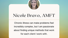 Therapist Spotlight:  Nicole Bravo, AMFT