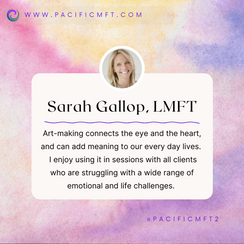 THERAPIST SPOTLIGHT:  Sarah Gallop, LMFT, ATR