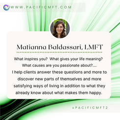 THERAPIST SPOTLIGHT:  Matianna Baldassari, LMFT