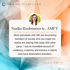 THERAPIST SPOTLIGHT:  Nadja Radmanovic, AMFT and Clinical Art Therapist