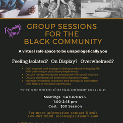 Group Sessions for the Black Community