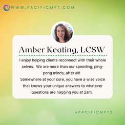 THERAPIST SPOTLIGHT:  Amber Keating, LCSW and Clinical Supervisor