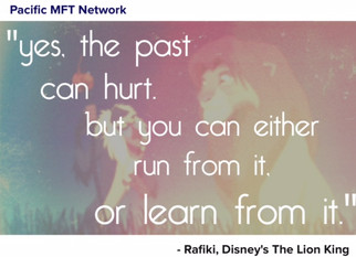 Oh yes, the past can hurt, but there is purpose in the pain...don't run from it