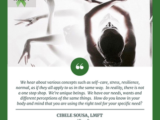 Mental Health Awareness Month - Cibele Sousa, LMFT