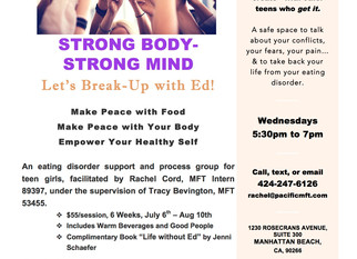Eating Disorder Recovery Group Starting!