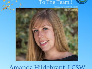 Welcome to the Team - Amanda Hildebrant, LCSW