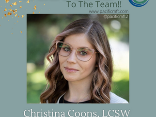 Welcome to the Team - Christina Coons, LCSW