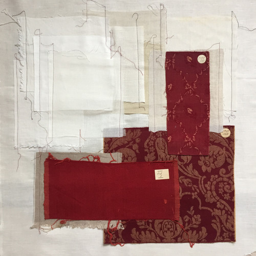 Rood-wit abstract