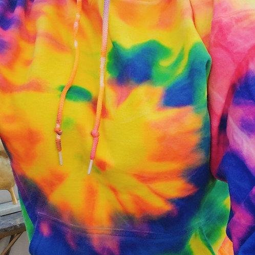 Custom Luxe🌊Pocketed Beach Comber Tie Dye Hoodie