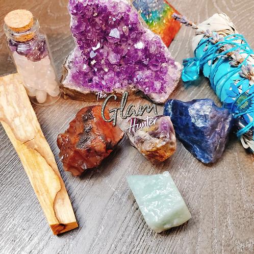 Crystal Amethyst Cluster Sacred Energy Kit