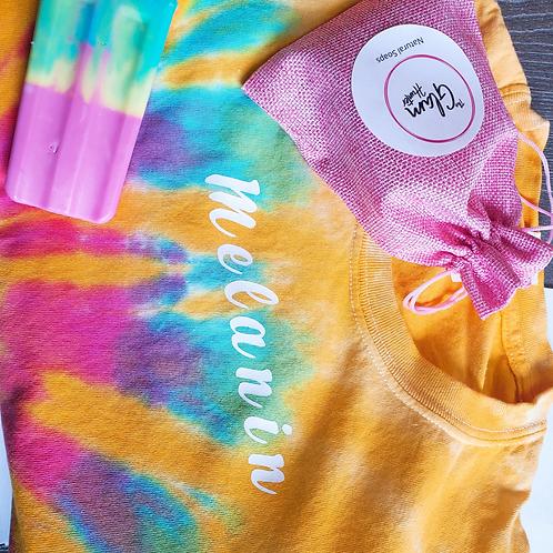 Beach🌊Tie Dye Mood  Tshirts+Body Bar Set