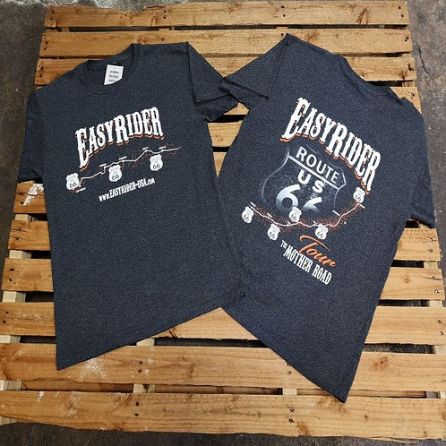 Easy Rider USA Route 66 Flagstaff T-Shirt grey