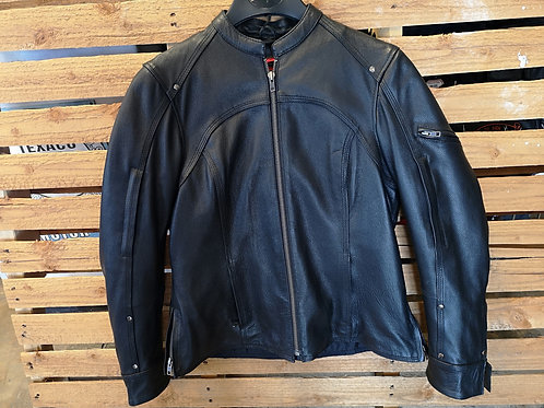 Motorcycle Jacket - Leather - Zip Off Inlet - black - deep pockets