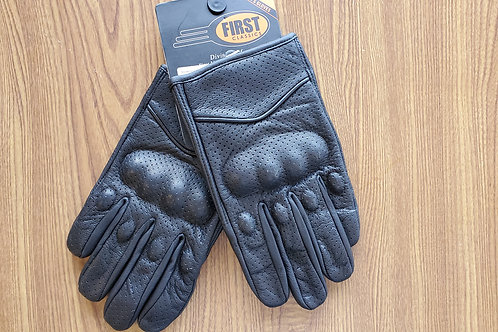 Leather Gloves Super High Quality Knuckle Protection Motorcycle black