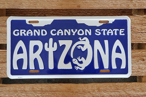 Metal Sign Route 66 USA Flag Arizona License Plate