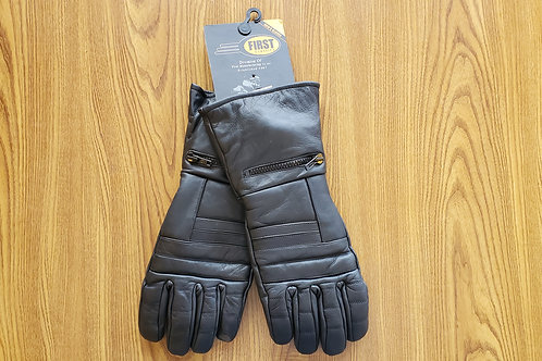 Leather Gloves High Quality Heavy Duty Motorcycle black warm