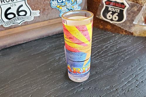 Shot Glass long Route 66 Arizona State Star print