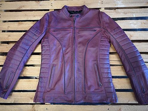 Motorcycle Jacket - Full grain Leather - root beer red
