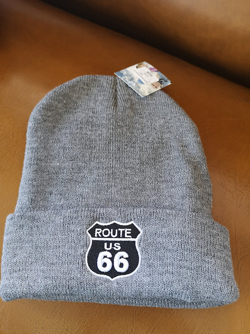 Route 66 Mother Road Beanie grey applications adjustable