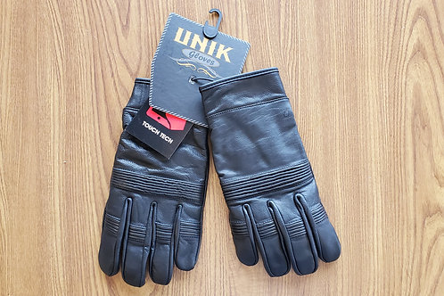 Leather Gloves High Quality Protection Motorcycle black