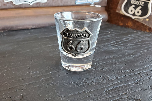 Shot Glass Route 66 Metal sign Flagstaff