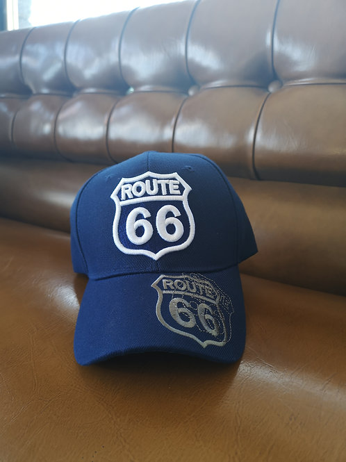 Route 66 Base Cap blue applications adjustable
