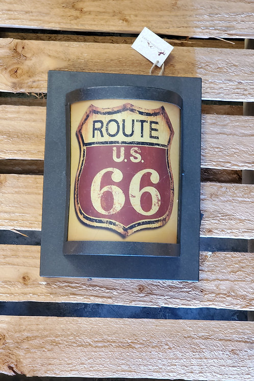 Route 66 Wall Light Rusty Look