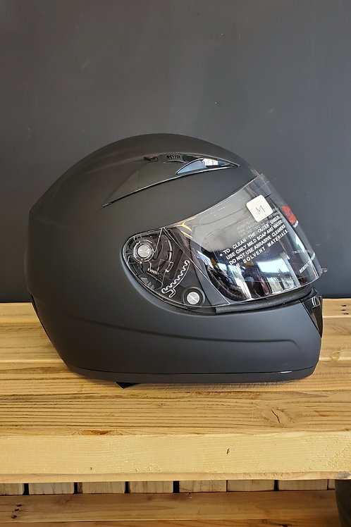 Torc Street fighter Daytona Full Face Helmet flat black