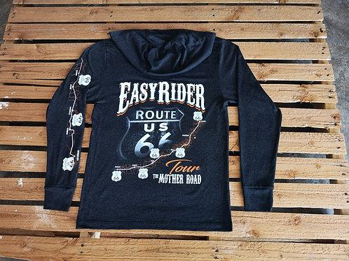 Easy-Rider-USA long-sleeve black both side full print Route 66