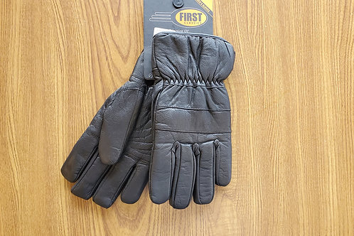 Leather Gloves High Quality Knuckle Protection Motorcycle black