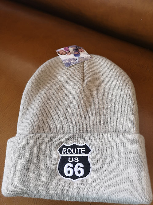 Route 66 Mother Road Beanie beige applications adjustable