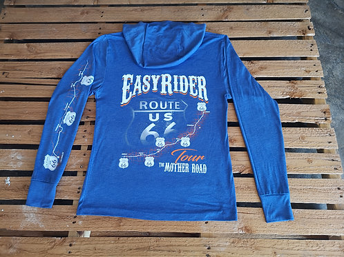 Easy-Rider-USA long-sleeve blue both side full print Route 66